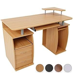 Miadomodo Tavolo scrivania per PC scrivania porta computer colore faggio