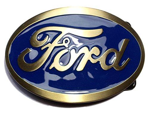ford-belt-buckle-oval-motor-muscle-car-us-car-v8-gurtelschnalle-blau-brass