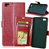 Design classique simple Couleur unie portefeuille en cuir PU de haute qualité boucle...