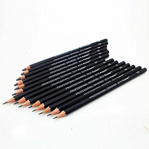 dingdangbell Set von 14Sketch Zeichenkohle 6h-12b Professinal Skizzieren Bleistifte Künstler (Qn-set)