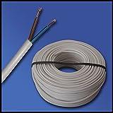 100 Meter tubo H03VV - F 2G0, 75 mm² - 2 x 0,75 mm² - blanco - 100 m anillo