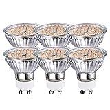 GVOREE GU10 Led Lampe 5w Warmweiß,ersetzt 50W Halogenlampe,2800K 120° Abstrahwinkel 400 Lumen LED Birne Deckenlampen,Nicht Dimmbar,6er Pack (5W Warmweiß)