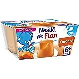 Nestlé Bébé P'tit Flan Caramel - Laitage dès 6 Mois - 4 x 100g - Lot de 6