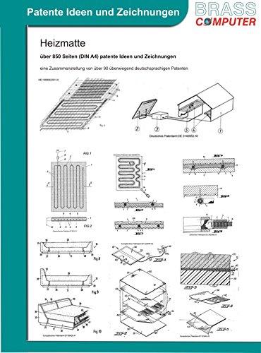 Heizmatte, über 850 Seiten (DIN A4) patente Ideen und Zeichnungen