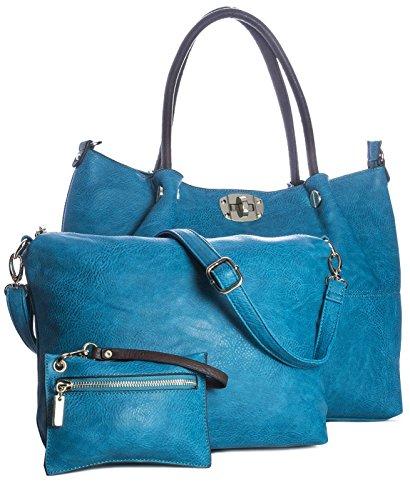 Big Handbag Shop - Sacchetto donna (Turchese profondo)