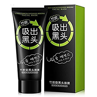 MY LITTLE BEAUTY Black Mask Blackhead Remover Facial Exfoliators Cream Suction Cleaner Tearing Resist Oily Skin Strawberry Nose Purifying Deep Cleansing Acne Remover Black Mud Peel-off Face Mask by MY LITTLE BEAUTY