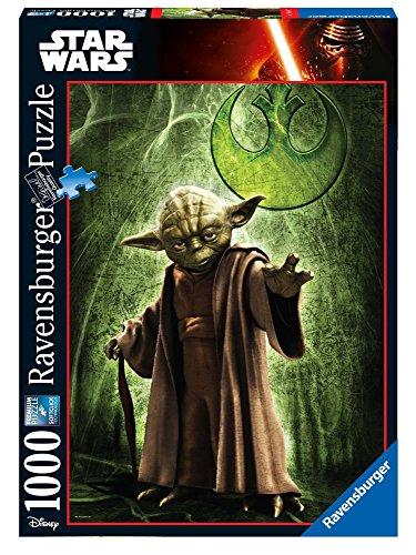 STAR WARS - Puzzle, diseño Yoda, 1000 Piezas (Ravensburger 19680)