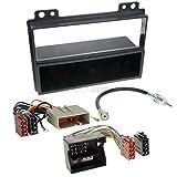Ford Fusion (JU2) 02-05 1-Din Autoradio Einbauset in original Plug&Play Qualität mit Antennenadapter, Radioanschlusskabel, Zubehör und Radioblende/Einbaurahmen schwarz
