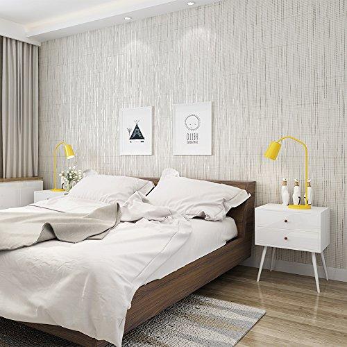 Nicht-Gewebte Tapete 3D Relief geprägt Tapete Aufkleber Luxus europäischen Stil Sofa TV Hintergrund Wohnzimmer Schlafzimmer sauber, Tapete Haarverdichtung, 83042 Light Grey, 0.53x10m Vertical - Halloween Wallpapers Hd