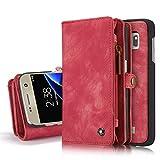 Hülle und Geldbörse für Samsung Galaxy S7 Edge Case Geldbeutel Portmonee Case Schutzhülle Tasche Etui Wallet