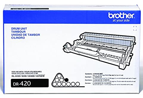 Brother DR-420 12000pages tambour d'imprimante - tambours d'imprimante (Brother HL-2240D Brother HL-2270DW, 12000 pages, Noir)