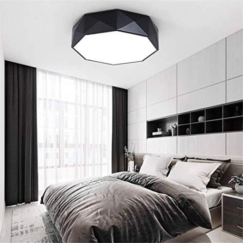 Ceiling Light-A Deckenleuchte Kreative Einfache Schmiedeeisen Deckenleuchte Led Schwarz Nordische Persönlichkeit Runde Schlafzimmer Lampe Post-Moderne Raumbeleuchtung - Schmiedeeisen-post-laterne