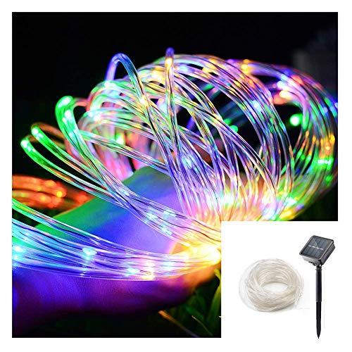 Splink Solar Lichtschlauch Lichterkette mit 8 Modi Beleuchtung,10 Meter, 100 LEDs, Wasserdichte IP65, Solarbetriebene LED Außenlichterkette für Innen/Aussen Weihnachten Partys Garten Hochzeiten Feiern
