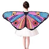 OverDose Damen Karneval Lustige Stil Kinder Kind DIY Schmetterling Kap Flügel Kreative Engelsflügel Dress up Kostüm Cosplay Geschenk Flügel Schal