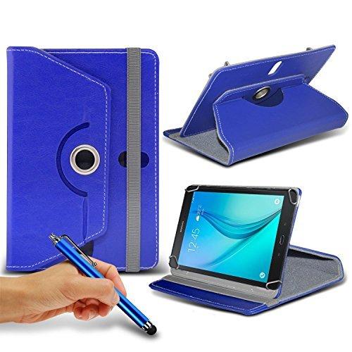 N4U ONLINE - blau Tablette 360°rotierend PU Leder Etui Feder Ständer Schutzhülle & Touchscreen Eingabestift für Acer Iconia A1-830 Tablette