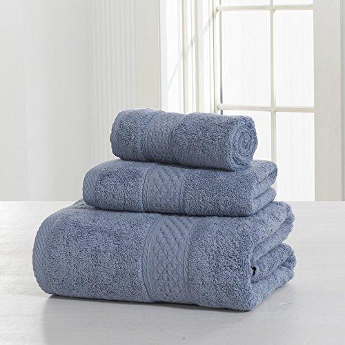 Ensemble De Serviettes, Coton, Plus De Couleur, Paquet De 3 (couleur: 4 # Gris) 5 # Bleu Cendres
