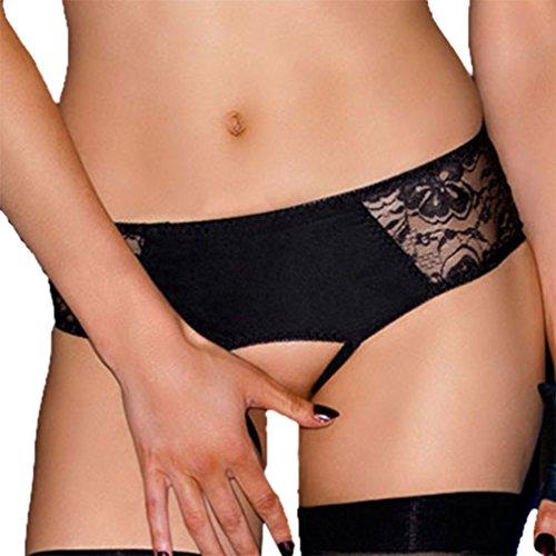 loveorama.de Lukis Damenslip offen Unterleib String Thongs Tangas G-string aus Spitze Schwarz