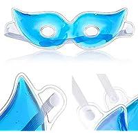 Icy Gel Máscara de Ojos Reutilizable Gel Eyepatch Frío/Cálido Terapia Evita los Círculos Oscuros