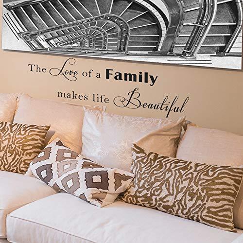pegatina de pared love family wall quotes stikers decal para la selección de decoración de la habitación