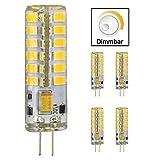 5 Stk. G4 5W LED Lampe Birne Energiesparlampe, Ersatz einer 40W Halogenen Lampe, 400 Lumen, 12V AC/DC, warmweiß, dimmbar, 5 Stück in jeder Packung, 48 x 2835 SMD, 360º Abstrahlwinkel, 13 x 52mm Kyodoled