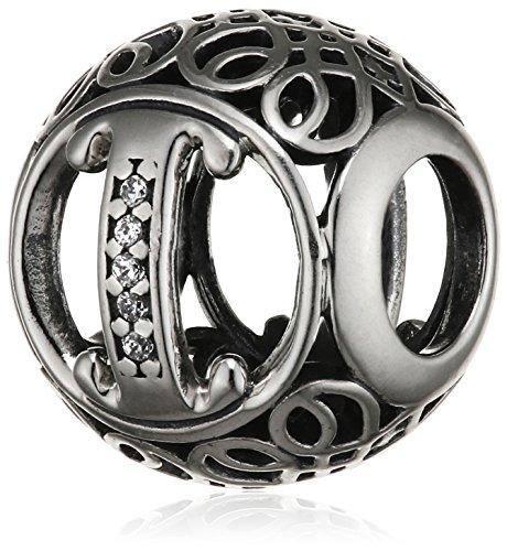 """Pandora Damen-Charm Vintage """"I"""" 925 Zirkonia weiß-791853CZ"""