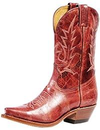 Botas de los EE.UU.-Botas, botas de cowboy BO-4604-50-C (pie normal), diseño de mujer, color rosa