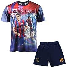 Conjunto de camiseta y pantalón corto del Barça Luis SUAREZ FC BARCELONE-Chaqueta oficial para niño Azul azul Talla:12 años