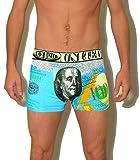 4er Herren Boxershorts Unterhose Retroshorts Pants Hipster Baumwolle USA Dollar, Größen:L
