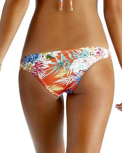 Bikini Set fur Damen Gepolstert BH Bandage Blumen Strand Bademode Beachwear Badeanzug Als Bild