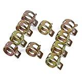 10 x Clip à Ressort Colliers de Serrage pour Tuyau de Carburant Conduite d'eau Tube de l'air Diamètre 15mm