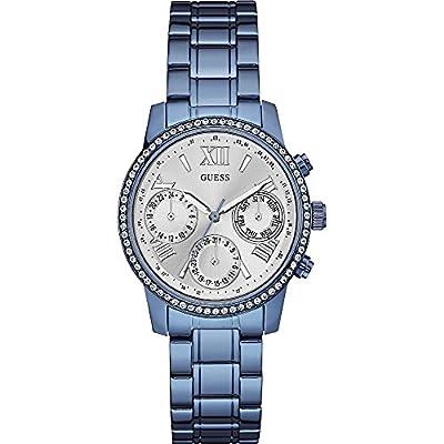 Guess W0623L4 - Reloj de lujo para mujer, color plateado / azul