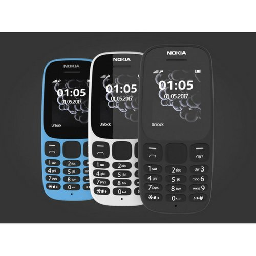 Nokia 105 sim-free mobile Dual SIM 4,6 cm - 2017 Edition - nero radio FM LED giochi venduto da PHONES 4u Ltd