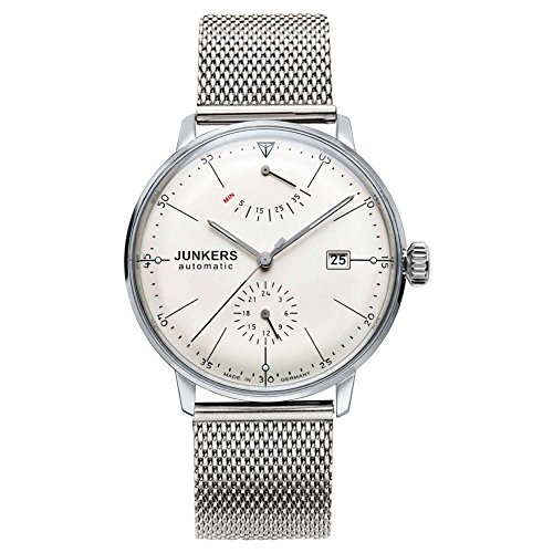 Junkers Herren Analog Automatik Uhr mit Edelstahl Armband 6060M5