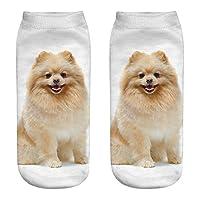 Cartoon Socks Women~Hotsell〔ㄥ〕Women Men Girls 1 Pack 3D Crazy Animal Cartoon Printed Funny Casual Ankle Socks