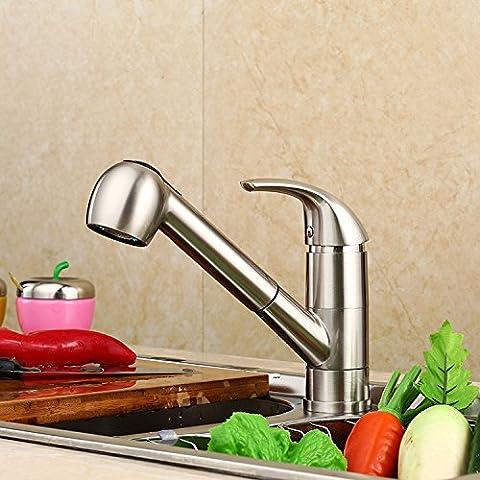 Furesnts casa moderna cocina y lavabo grifos Sección III dibujar toca todos coppernickel soldadura pulido mezcla de agua fría y caliente llave Mezclador lavabo Lavabo grifos,(Estándar G 1/2 puertos manguera universal)