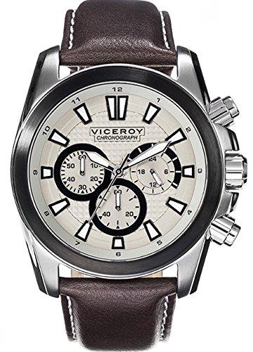 Viceroy Reloj Multiesfera para Hombre de Cuarzo con Correa en Cuero 432345-17
