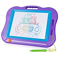 SGILE Large Magnetic Drawing Board - Erasable Colorful Scribble Board Magna Doodle Writing Etch Sketch Pad Learning toys Kids Children Toddlers Baby/Kids Skill Development Purple
