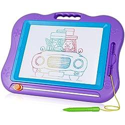 Pizarras Mágicas Multicolor con Pluma y Linda Sello Tablero de Dibujo Magnético Multicolor Borrable para el Desarrollo Habilidades de Dibujar de Bebé/Niños Juguete para Niños