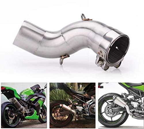 Huashao Motorrad Auspuffrohr, Edelstahl Verbindungsrohr 51mm Schalldämpfer, passend für Kawasaki Z900 Modifikation