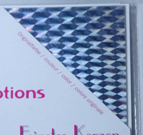 Wachsplatten in silber holomagic, 200 x 100 x 0,5mm. 1Platte …