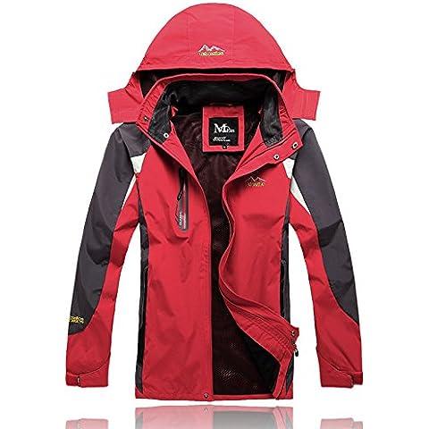 YCMDM Chaquetas Abrigos Escudo Hombres Al aire libre Escalada Traje Invierno Al aire libre Esquí Manténgase caliente , red , l