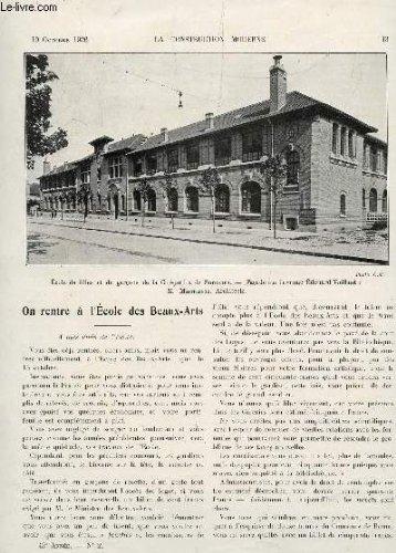 LA CONSTRUCTION MODERNE - N°2 - 10 OCTOBRE 1926 / ON RENTRE A L'ECOLE DES BEAUX ARTS - L'ARCHITECTURE EN CIMENT ARME - LE GROUPE SCOLAIRE DE LA CITE JARDIN DE SURESNES - l4ENQUETE SUR LE PRIX DE DETAIL - DOCUMENTS STATISTIQUES.