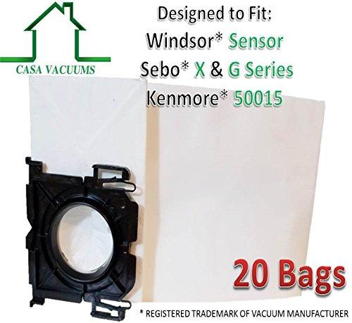 Casa Leerstellen Ersatz Verwendet für Windsor Sensor-Versamatic Plus-5300rep Paper Bags Handstaubsauger. Sebo X & G Serie. aufrecht Kenmore 12und 15-Serie 20Pack -