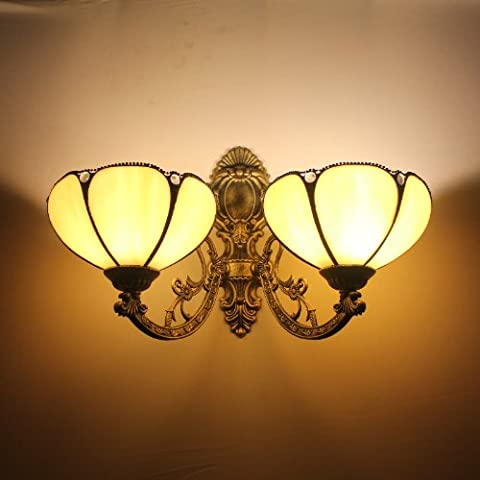Tiffany 8-Zoll-minimalis EUROP?ISCHEN gekr¨¹mmte Wand 2 Leuchten