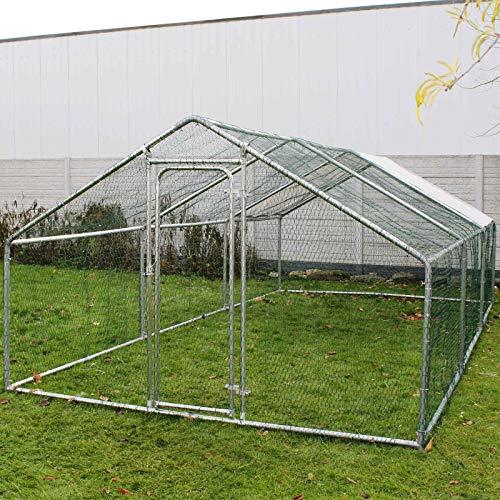 #Wiltec Freilaufgehege Außengehege Voliere Hühnerstall Hasenstall Kleintiergehege 2x3x2m Sonnendach#