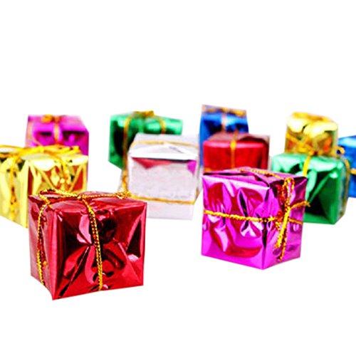 FeiliandaJJ 12pcs Weihnachten Anhänger Mini Geschenkbox Hängende Verzierung für Babyzimmer Weihnachtsbaum Kranz Party Tür Wand Haus Deko Accessoires (A)