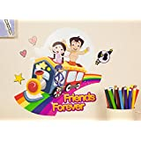 "Asian Paints Nilaya - Chhota Bheem and friends 12"" X 24"" wall stickers - Friends Forever (Original licensed product)"