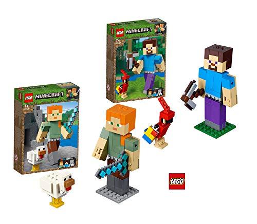 LEGO 21148 MinecraftTM - Figure of MinecraftTM with parrot MinecraftTM 21149 MinecraftTM - BigFig Alex with Chicken