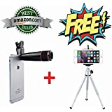Teconica 12x Zoom Mobile Phone Telescope Clip Lens For Cell Phone Optical Lens Magnifier For All Android And IOS Device { Random Colour }
