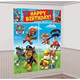 "Amscan International 670422 Paw Patrol Scene Setters Wall Decorating Kit, Multi Color, 59"" x 65"""